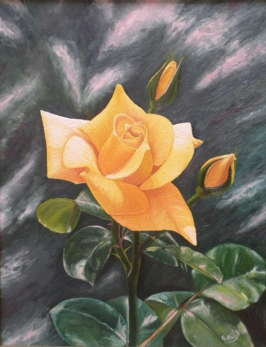 Cuadrosaloleo-flor-amarilla